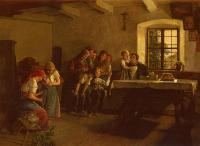 Ferdinand Georg Waldmuller : The Center of Attention