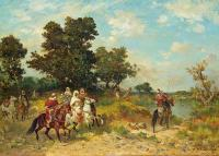 Georges Washington : Arab Hunt Scene