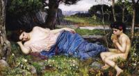 John William Waterhouse : Listening to His Sweet Pipings