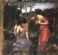 John William Waterhouse : Nymphs Finding the Head of Orpheus