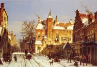 Willem Koekkoek : A Dutch Village In Winter