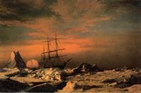 William Bradford : Ice Dwellers Watching the Invaders