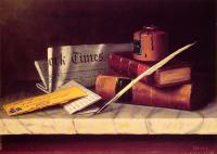 William Michael Harnett : Still Life with Letter to Thomas B Clarke