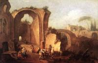 Giuseppe Zais : Landscape with Ruins and Archway